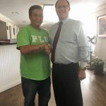 Car Accident Attorney Larry Tylka with client Luis Aguillon-Ramos