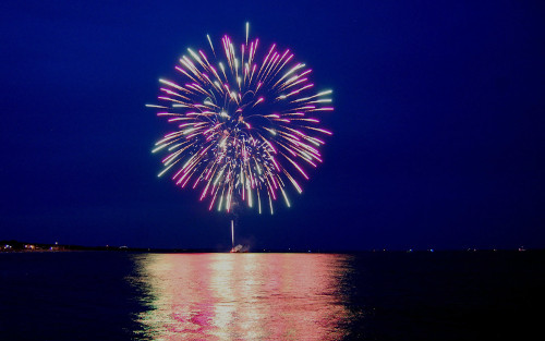4th of July Fireworks over Galveston Island